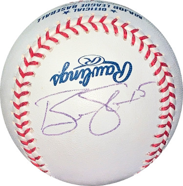 Ben Sheets signed Rawlings Official Major League Baseball #15- JSA Hologram #EE63115 (Brewers/A's/Braves)
