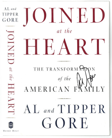 Al Gore signed Joined at the Heart Book Cover/Dust Jacket- JSA #AA38196 (United States Vice-President)