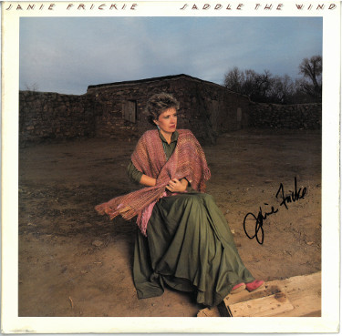 Janie Frickie signed 1988 Saddle the Wind Album Cover/LP/Vinyl Record- JSA #GG08508