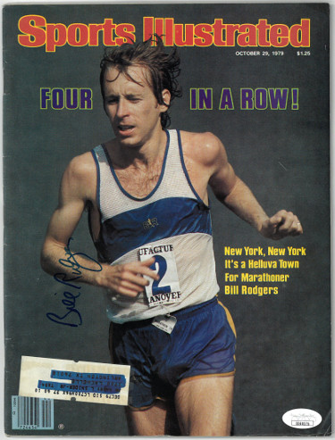 Bill Rodgers signed Spots Illustrated Full Magazine 10/29/1979- JSA #EE60275 (New York Marathon)