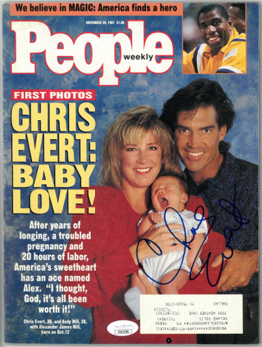 Chris Evert signed People Weekly Full Magazine 11/25/1991- JSA #EE63308 (Tennis)