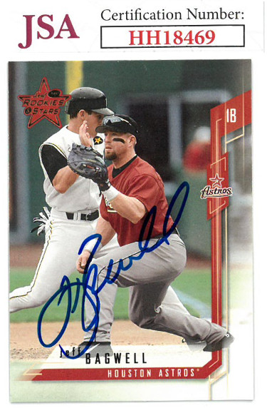 Jeff Bagwell signed 2001 Leaf Rookies & Stars Baseball Card #37- JSA #HH18469 (Houston Astros)
