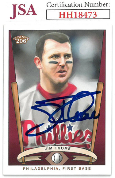 Jim Thome signed 2003 Topps 206 Baseball Card #T206-12- JSA #HH18473 (Philadelphia Phillies)