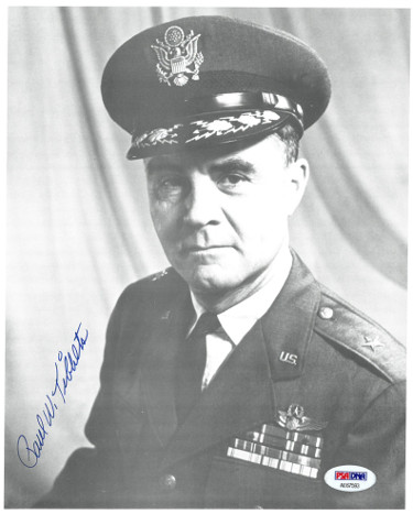Paul Tibbets signed WWII Enola Gay Vintage 8x10 Photo- PSA #AE67593 (Hiroshima Japan Bomb Pilot)