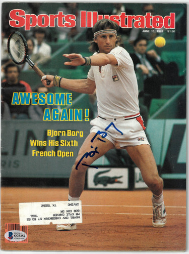 Bjorn Borg signed Sports Illustrated Full Magazine 6/15/1981- Beckett/BAS #Q75352 (French Open)
