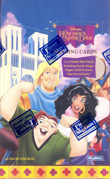 HUNCHBACK OF NOTRE DAME DISNEY 1996 SKYBOX FACTORY SEALED UNOPENED TRADING CARD BOX – 48 PACKS – Brand new