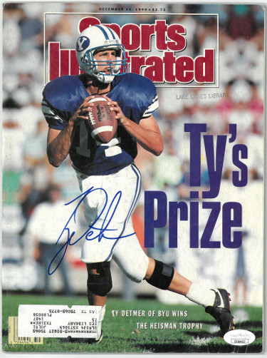 Ty Detmer signed Sports Illustrated Full Magazine 12/10/1990- JSA #EE60457 (BYU Cougars/Heisman)