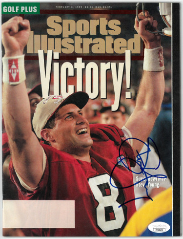 Steve Young signed Sports Illustrated Full Magazine 2/6/1995- JSA #EE60429 (San Francisco 49ers/SB XXIX/No Label)
