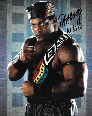 Faarooq signed WWE Wrestling 8x10 Photo NOD (Nation of Domination/Ron Simmons)