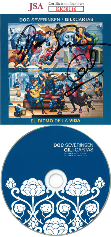 Doc Severinsen signed 2009 Gil & Cartas/El Ritmo De La Vida Album Cover w/ CD & Case- JSA #KK58116