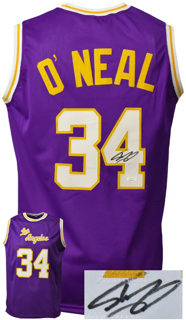 Shaquille O'Neal signed Los Angeles Custom Stitched Purple Pro Basketball Jersey– JSA Witnessed