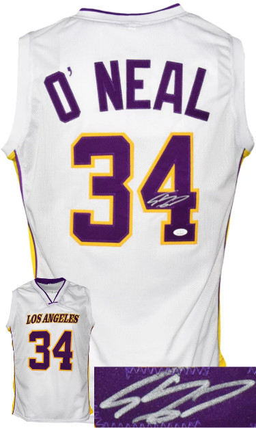Shaquille O'Neal signed Los Angeles Custom Stitched White Pro Basketball Jersey– JSA Witnessed