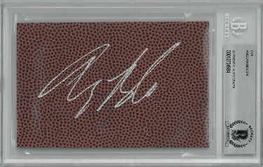 Anquan Boldin signed 3.5x5 Football Texture Cut Signature- Beckett Encapsulated (Florida State Seminoles/Ravens/49ers)