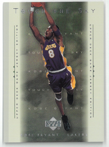 Kobe Bryant 2001-02 Upper Deck Game Jersey Touch the Sky Insert Card #T1 (Los Angeles Lakers)
