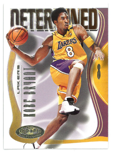 Kobe Bryant 2000-01 NBA Hoops Determined Hot Prospects Card #4 of 10 D (Los Angeles Lakers)
