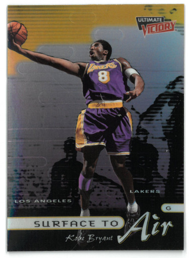 Kobe Bryant 1999-00 Upper Deck Ultimate Victory Surface to Air Insert Card #SA8 (Los Angeles Lakers)