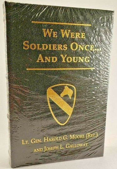 Lt. Gen Hal/Harold Moore We Were Soldiers Once...And Young Flat Signed Press Signed Leather Book #2219 (Ia Drang)