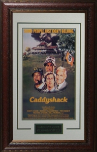 Bill Murray unsigned Caddyshack Vintage Movie Poster Leather Framed 20x28 (entertainment/photo)