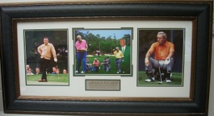 Arnold Palmer 4 Time Augusta Masters Champion 3 Photo Premium Leather Framing