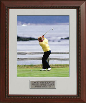 Jack Nicklaus unsigned 1992 US Open 11x14 Custom Framed