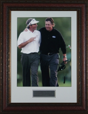 Fred Couples unsigned 2006 Masters 16x20 Custom Leather Framed w/Mickelson