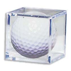 Golf Ball Acrylic Display Case Cube