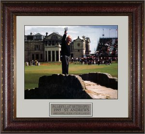 Arnold Palmer 1995 Last British Open Swilcan Bridge 11x14 Photo Premium Leather Framing