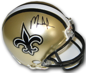 Mark Ingram signed New Orleans Saints Riddell Mini Helmet- Ingram Hologram