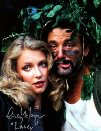 "Cindy Morgan signed Caddyshack 16x20 Photo Inscribed ""Lacey"" w/ Bill Murray Helmet pose (entertainment)"