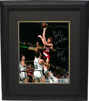Bill Walton signed Portland Trail Blazers 8x10 Photo Custom Framed HOF 93