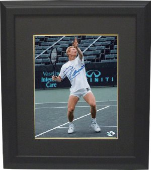 Jim Courier signed 8x10 Photo Custom Framed