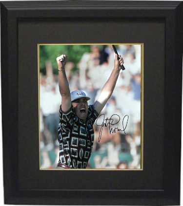 Justin Leonard signed PGA 11x14 Photo Custom Framed (1999 Ryder Cup Brookline)