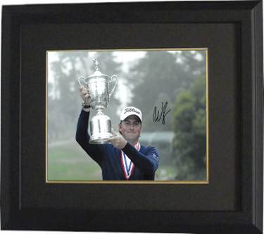 Webb Simpson signed PGA 11x14 Photo Custom Framed (with 2012 US Open Trophy)