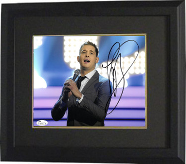 Michael Buble signed 8x10 Photo Custom Framed- JSA Hologram #J64859 (horizontal)