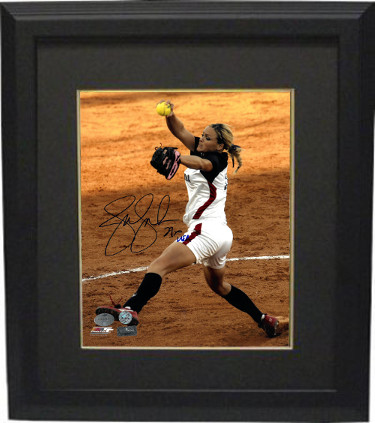 Jennie Finch signed Olympic Team USA 8X10 Photo Custom Framed USA