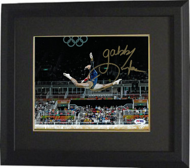 Gabby Douglas signed 2016 Rio Olympics Gymnastic 16x20 Photo Custom Framing- PSA ITP (Team USA/Gold Medalist)