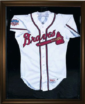 Baseball Jersey Deluxe Full Size Display Case Black
