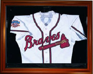 Baseball Jersey Deluxe Half Display Case Wood