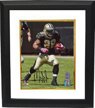Mark Ingram signed New Orleans Saints 8x10 Photo Custom Framed- Ingram Hologram