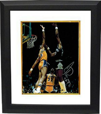 Artis Gilmore signed San Antonio Spurs 8x10 Photo Custom Framed HOF 2011