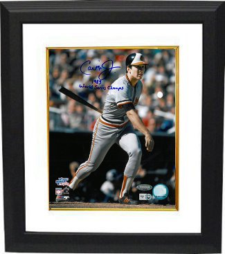 Cal Ripken, Jr. signed Baltimore Orioles 16X20 Photo Custom Framing (1983 World Series) 1983 World Series Champs- MLB Hologram