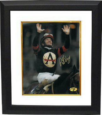Awesome Again signed 1998 Breeders' Cup Classic at Churchill Downs Horse Racing 8x10 Photo Custom Framed w/ Pat Day