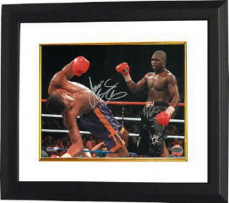 "James ""Lights Out"" Toney signed Boxing 16X20 Knockout Photo Custom Framed vs ""Prince"" Charles Williams"