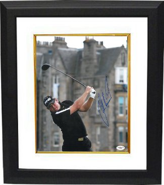 Lee Westwood signed 11X14 Photo Old Course at St. Andrews British Open Custom Framing - JSA Hologram