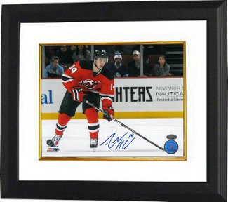 Adam Henrique signed New Jersey Devils 8x10 Photo Custom Framed horizontal