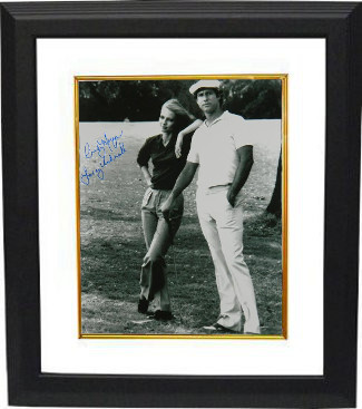 "Cindy Morgan signed Caddyshack B&W 16x20 Photo Custom Framed ""Lacey Underall"" w/ Chevy Chase (entertainment)"