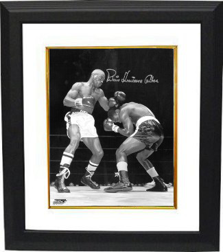 "Rubin ""Hurricane"" Carter signed Vintage B&W 16x20 Photo Custom Framed (vertical) (deceased)- Beckett Hologram"