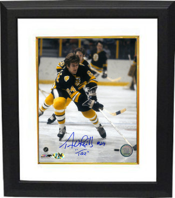 "Terry O'Reilly signed Boston Bruins Color 8X10 Photo Custom Framed ""TAZ"""