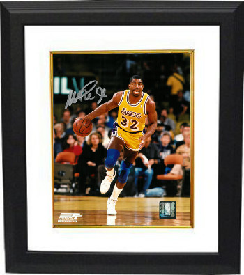 Magic Johnson signed Los Angeles Lakers 8x10 Photo Custom Framing - JSA Hologram (Silver Sig)