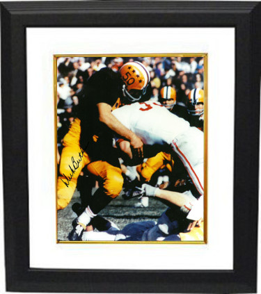 Dick Butkus signed Illinois Fighting Illini 8x10 Photo Custom Framing- BAS- Beckett Hologram